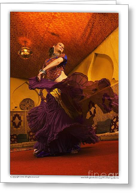 Tribal Belly Dance Greeting Cards - Belly dancer Lisa Goodrich at the Mataam Fez Greeting Card by Cynthia Holling-Morris