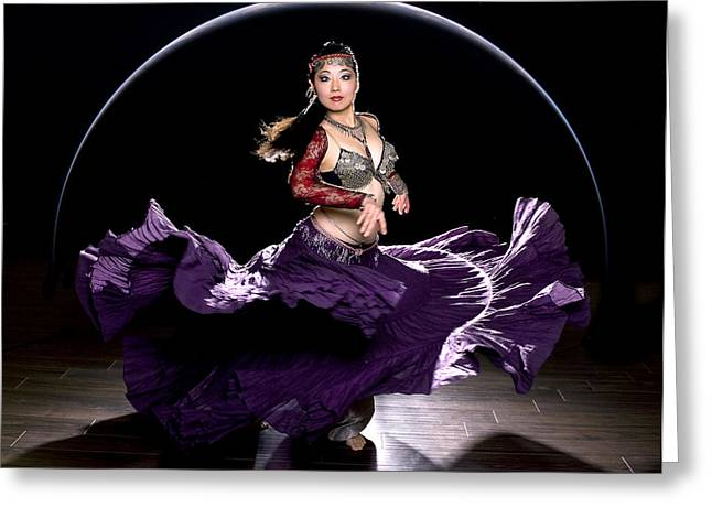 Tribal Belly Dance Greeting Cards - Japanese Belly Dancer Sawako Ama Greeting Card by Michael Torres
