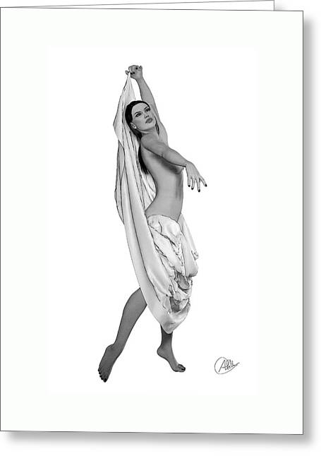 Belly Dancing Greeting Card by Quim Abella