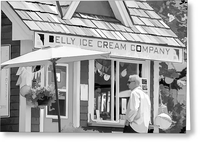 Shack Mixed Media Greeting Cards - Belly Ice Cream Company Greeting Card by Linda Muir