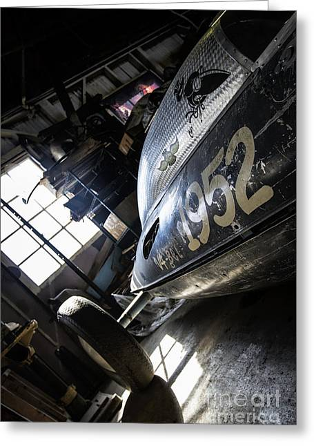 Royalty Greeting Cards - Belly Tanker - Old Crow Speed Shop- Metal and Speed Greeting Card by Holly Martin