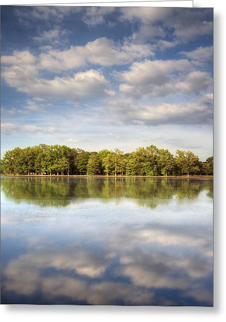 Babylon Greeting Cards - Belmont Lake Reflections Greeting Card by Vicki Jauron
