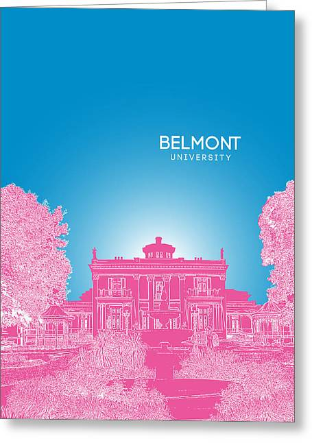 Liberal Digital Greeting Cards - Belmont University Greeting Card by Myke Huynh