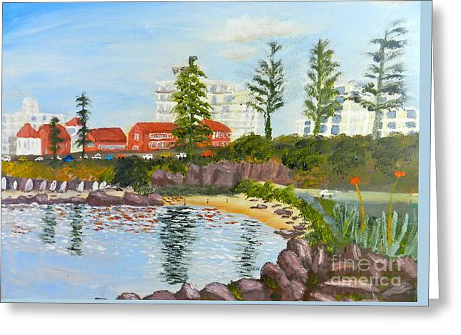 Pamela Meredith Greeting Cards - Belmore Basin from the North Sea Wall Greeting Card by Pamela  Meredith