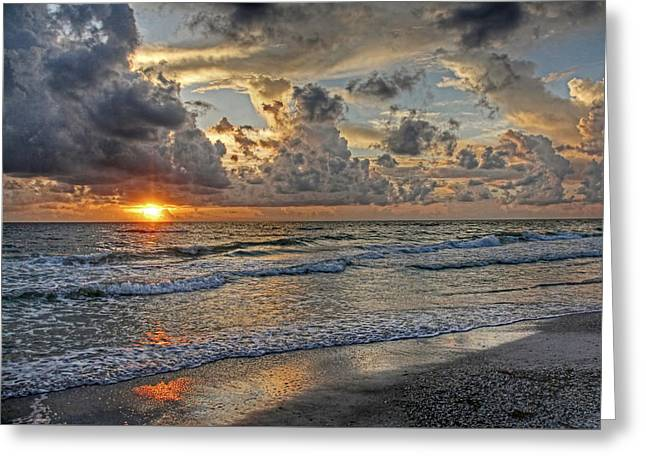 Beloved - Florida Sunset Greeting Card by HH Photography of Florida
