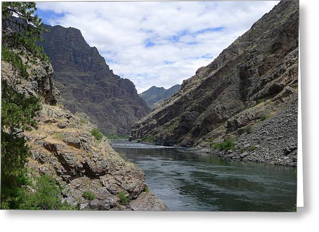 The Escape Capsule Greeting Cards - Below Hells Canyon Dam Greeting Card by Joel Deutsch