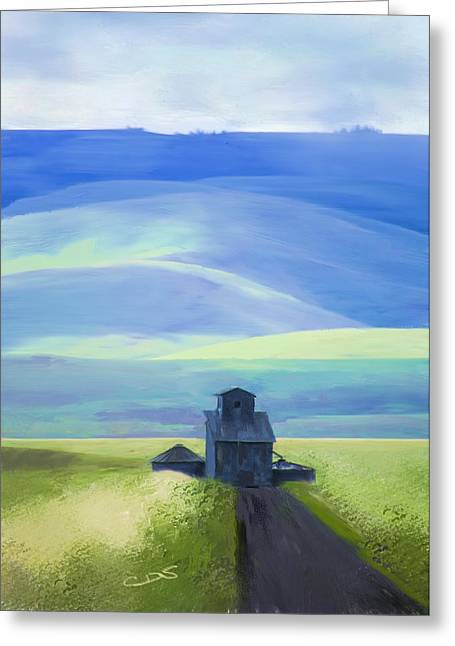 Ranch Digital Art Greeting Cards - Below the Blues Greeting Card by Dale Stillman