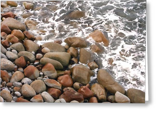 Ocean Art. Beach Decor Greeting Cards - Below the Coastal Trail Greeting Card by Art Block Collections