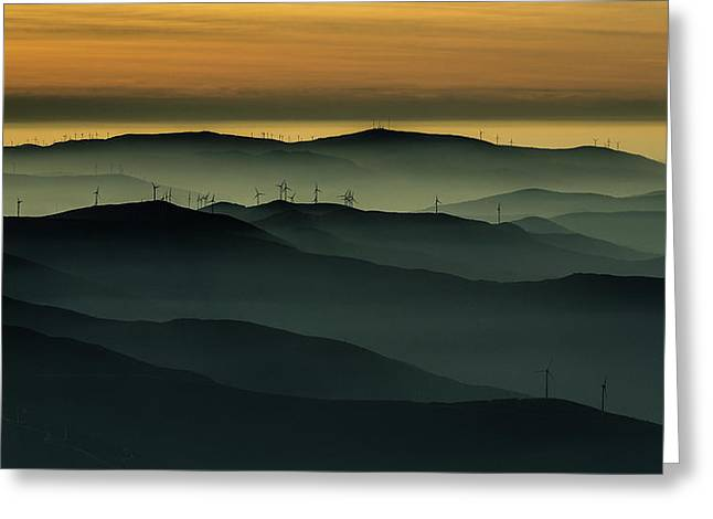 Electricity Greeting Card featuring the photograph Below The Horizon by Rui Correia