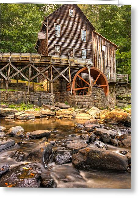 Grist Mill Greeting Cards - Below the Old Mill Greeting Card by Gregory Ballos