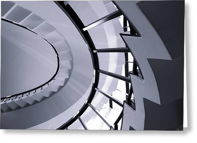 Below The Stairs - Abstract Greeting Card by Steven Milner