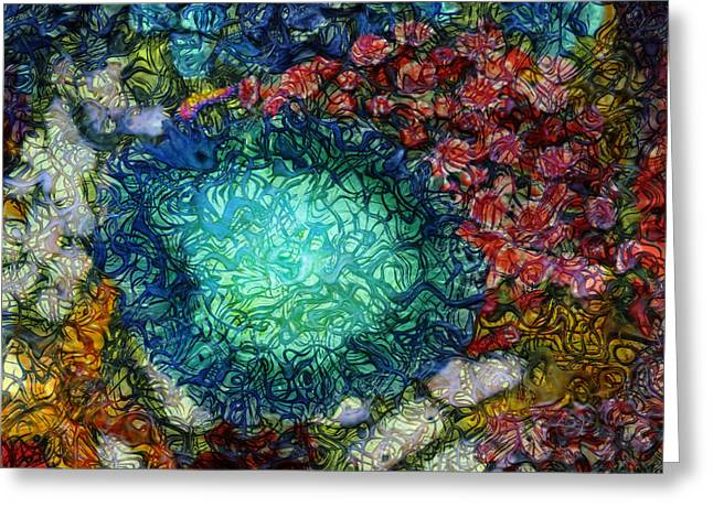 Sea Life Digital Art Greeting Cards - Below The Surface 4 Greeting Card by Jack Zulli