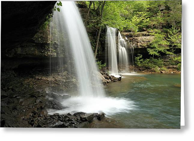 Richland Creek Greeting Cards - Below Twin Falls - MP0025 Greeting Card by Matthew Parks