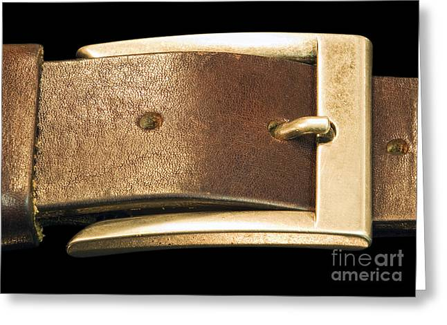 Leather Belt Greeting Cards - Belt buckle Greeting Card by Sinisa Botas