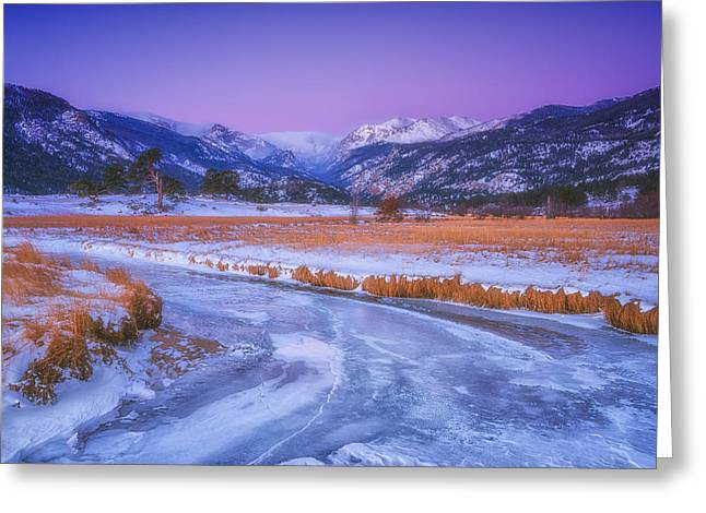 Rocky Mountain National Park Framed Prints Greeting Cards - Belt of Venus RMNP Greeting Card by Darren  White