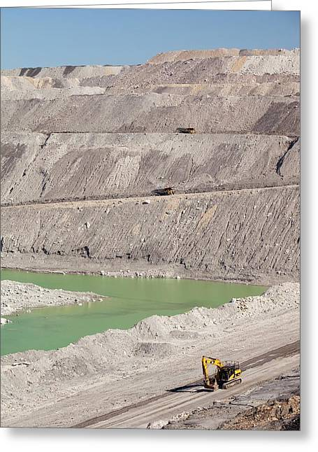Beltana Number 1 Open Cast Coal Mine Greeting Card by Ashley Cooper