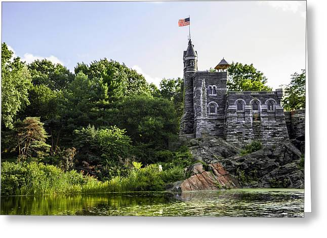 Tourist Site Greeting Cards - Belvedare Castle View - Central Park - NY Greeting Card by Madeline Ellis