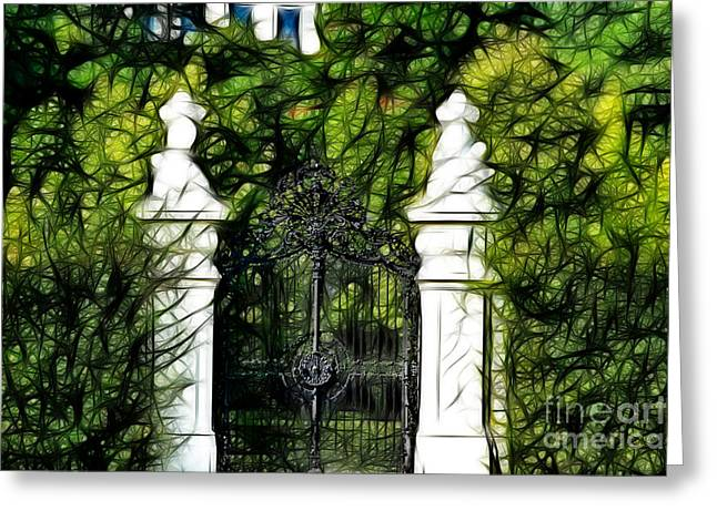 Gateway Church Greeting Cards - Belvedere Palace Gate Greeting Card by Mariola Bitner