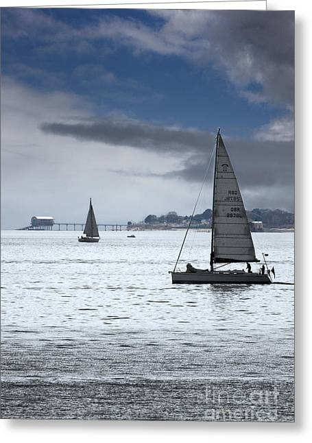 Bembridge Pier From Gosport Greeting Card by Terri Waters