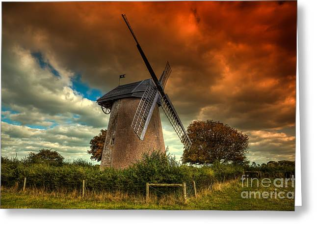 Manateevoyager Greeting Cards - Bembridge Windmill IOW Greeting Card by English Landscapes