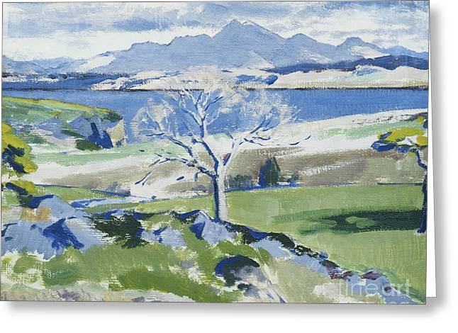 Travelling Greeting Cards - Ben Cruachan from Achnacraig Greeting Card by Francis Campbell Boileau Cadell