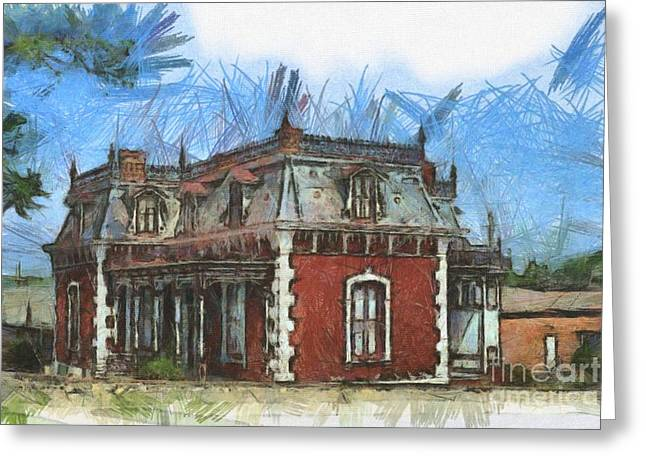 Historic Site Drawings Greeting Cards - Ben Ferrel Museum  Greeting Card by Liane Wright