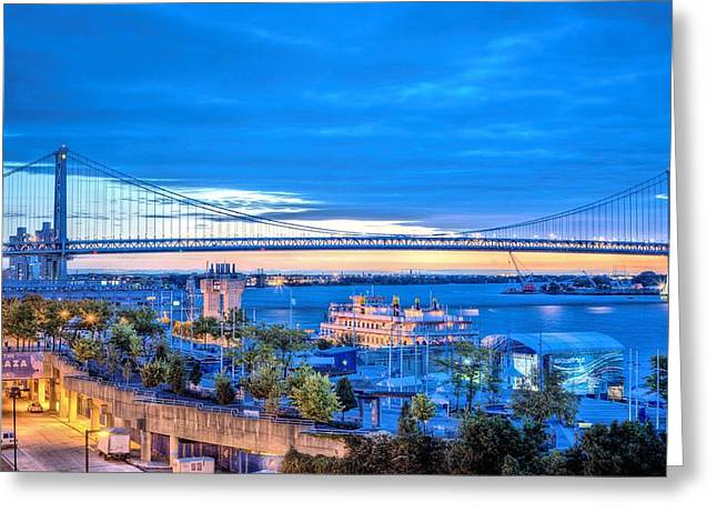 Ben Franklin Bridge Greeting Cards - Ben Franklin Bridge Greeting Card by JC Findley