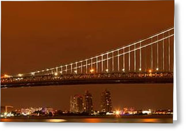 Famous Bridge Greeting Cards - Ben Franklin Over The Delaware Greeting Card by Adam Jewell