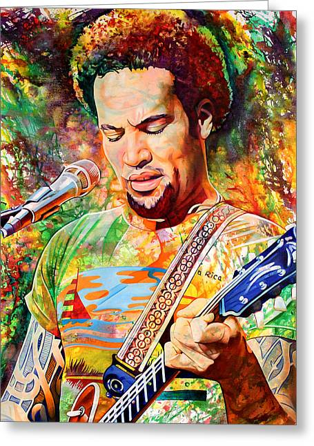 Ben Harper Greeting Cards - Ben Harper 2012 Greeting Card by Joshua Morton