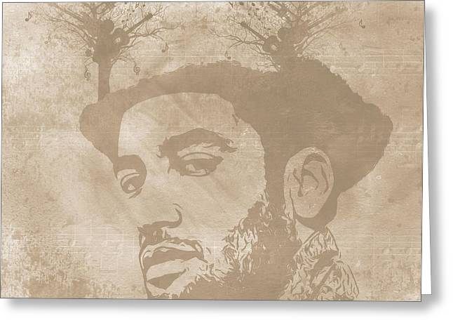 Ben Harper Greeting Cards - Ben Harper Music Man Greeting Card by Dan Sproul