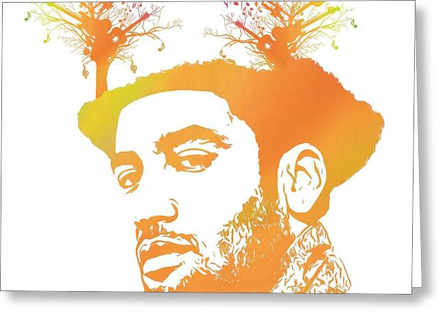 Ben Harper Greeting Cards - Ben Harper Pop Art Greeting Card by Dan Sproul