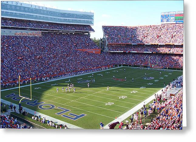 Gainesville Greeting Cards - Ben Hill Griffin Stadium Greeting Card by Nomad Art And  Design