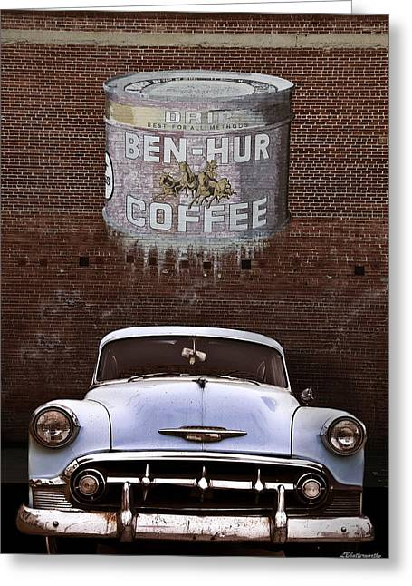 Ben Hur Coffee Greeting Card by Larry Butterworth