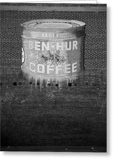 Old Sign Greeting Cards - Ben Hur Coffee Greeting Card by Peter Tellone