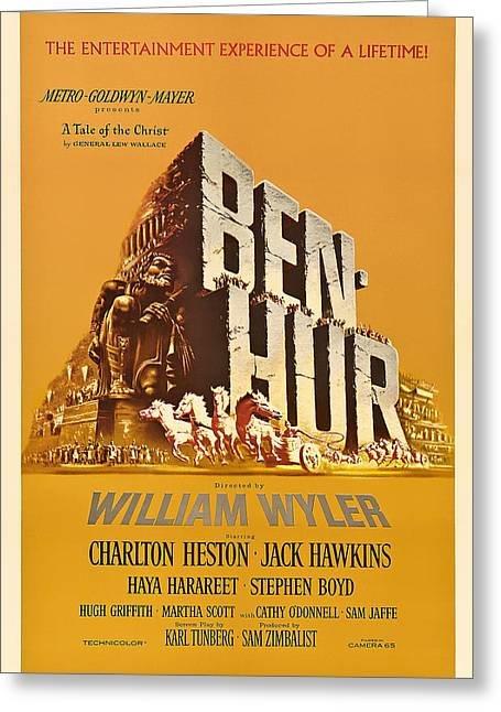 1959 Movies Greeting Cards - Ben Hur Movie Poster Greeting Card by Mountain Dreams