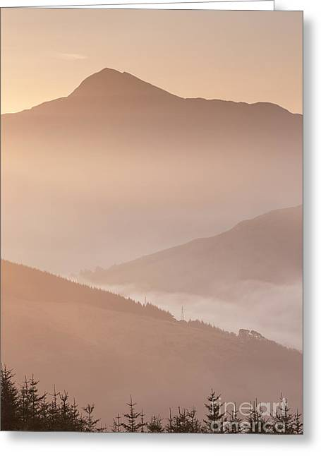 Bute Greeting Cards - Ben Lomond Dawn Greeting Card by Rod McLean