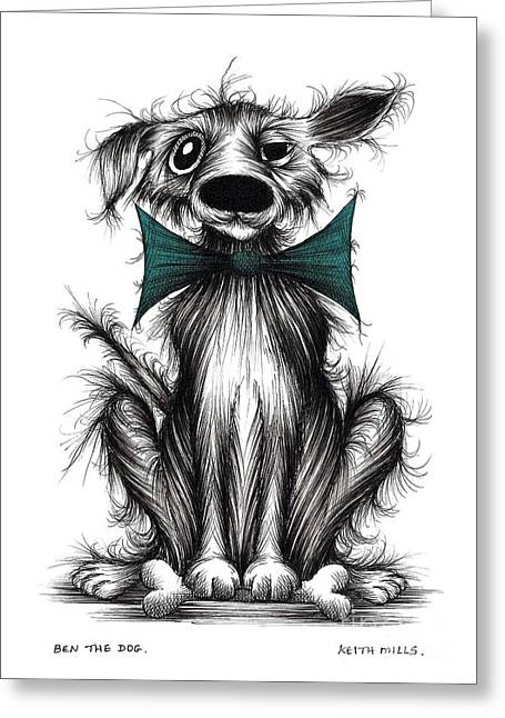 Lucky Dogs Greeting Cards - Ben the dog Greeting Card by Keith Mills