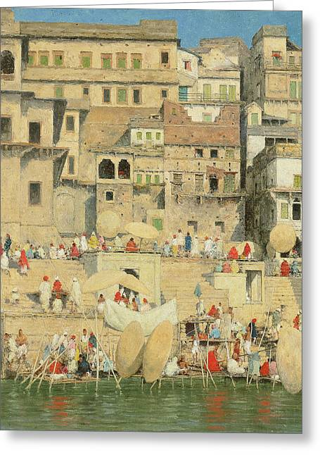 Figures Paintings Greeting Cards - Benares Greeting Card by Mortimer Ludington Menpes