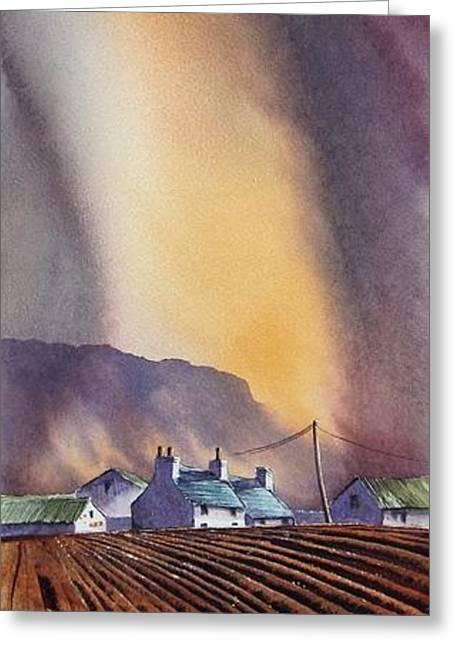 Benbulbin Farm Greeting Card by Roland Byrne