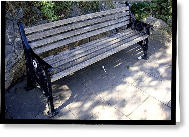 Bench 12 Greeting Card by Roberto Alamino