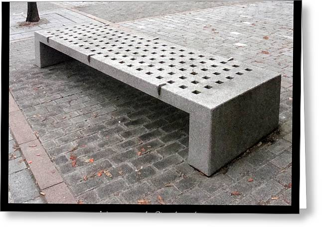 Bench #24 Greeting Card by Roberto Alamino