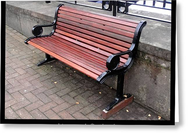 1000benches Greeting Cards - Bench #27 Greeting Card by Roberto Alamino
