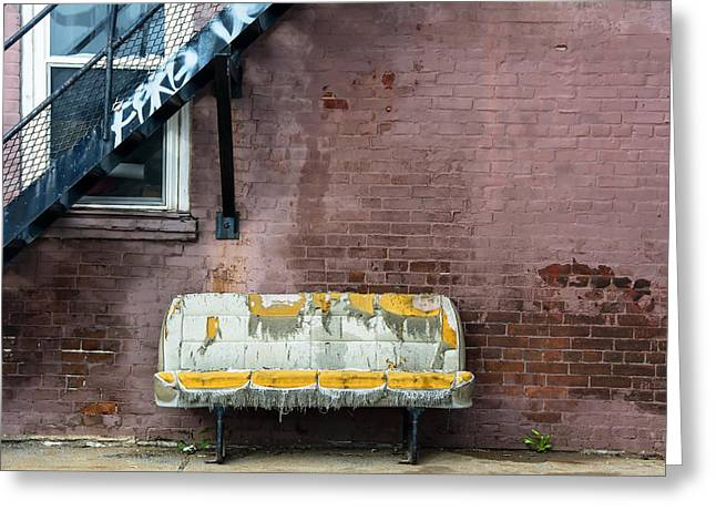 Cushion Greeting Cards - Bench Greeting Card by KM Corcoran