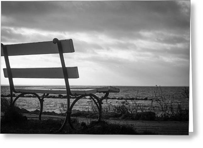 Pause Greeting Cards - Bench with a View Greeting Card by Ralf Kaiser