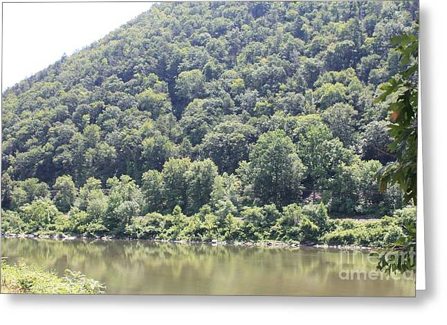 Reflections Of Sky In Water Greeting Cards - Bend of the Delaware Water Gap Greeting Card by John Telfer