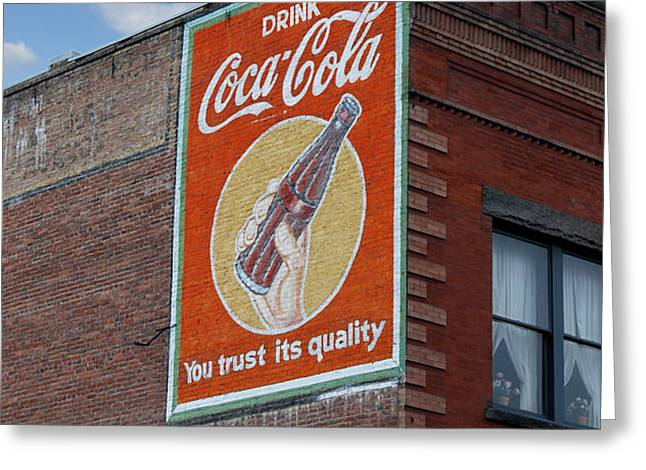 Bend Oregon Coke Sign Greeting Card by Gary Grayson
