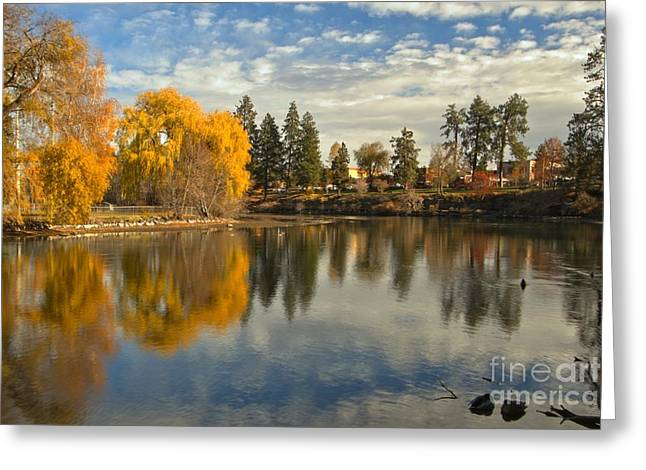 Metro Park Greeting Cards - Bend Oregon Metro Park Greeting Card by Adam Jewell