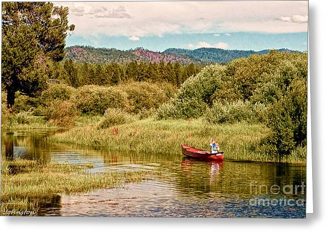 Bend/sunriver Thousand Trails Greeting Card by Bob and Nadine Johnston