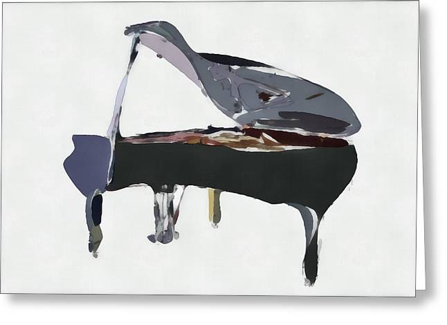 Piano Digital Art Greeting Cards - Bendy Piano Greeting Card by David Ridley