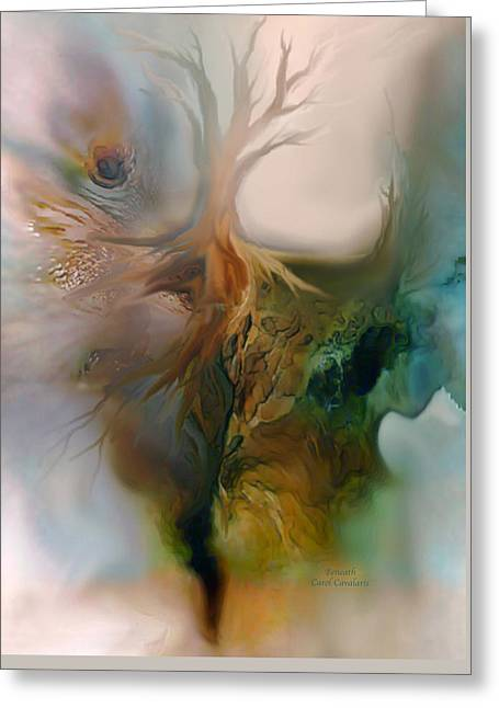 Tree Art Print Mixed Media Greeting Cards - Beneath Greeting Card by Carol Cavalaris